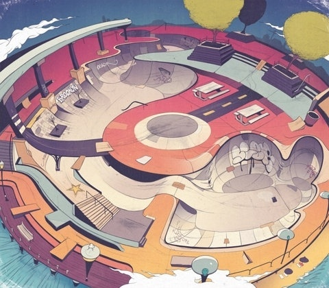 FFFFOUND! | Andrew Archer - Illustrators & Artists Agents – Debut Art #skatepark #illustration #skateboarding