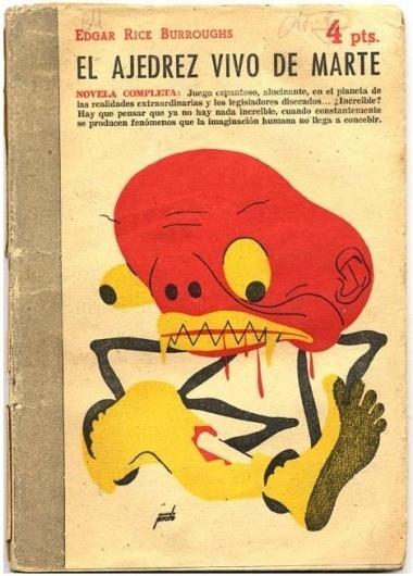The Chessmen of Mars / 1950 #print #1950 #book #space #leg #mars #illustration #monster