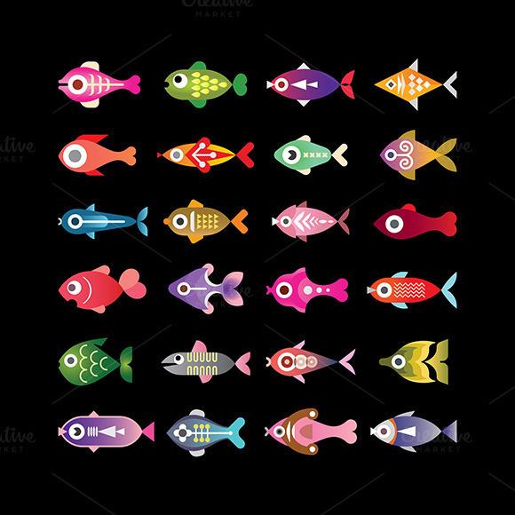 fish icon set #fish #icon #aquarium #exotic #design elements