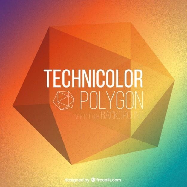 #TECHNICOLOR #POLYGON #BACKGROUND #FREE #VECTOR