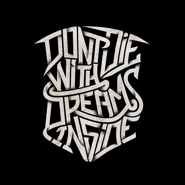 """Album cover project """"Don't Die WIth Dreams Inside"""""""