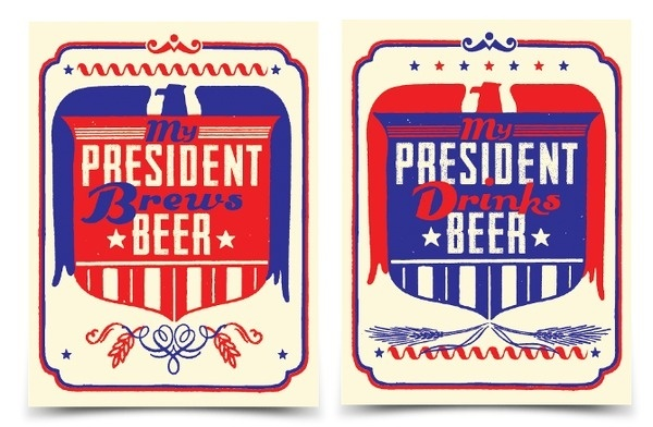 Poster Offensive 6 Andrew Kiekhafer #beer #red #drink #election #brew #president #blue #obama