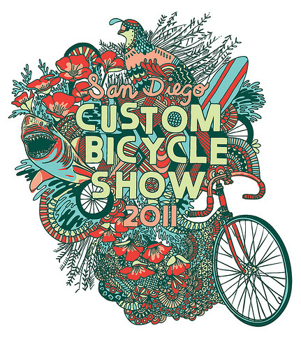 San Diego Custom Bicycle Show 2011 #illustration