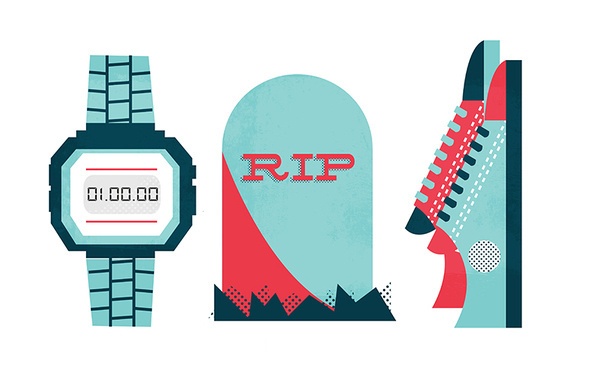 RWD Magazine #icon #lucas #grave #casio #converse #illustration #jubb #editorial #magazine #rwd