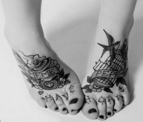 Pussy Pistols #feet #tattoos