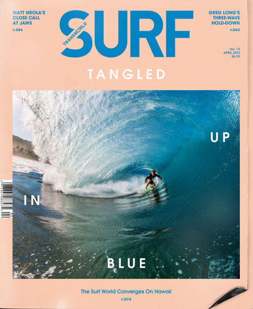 Craig Anderson | May 2013 Cover | TransWorld SURF #cover #layout #design #magazine