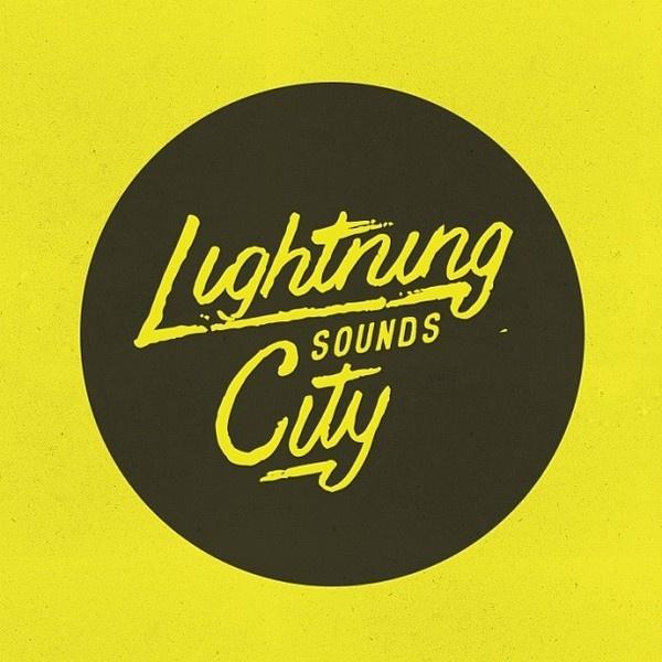 Lightning City Sounds by http:bravepeople.co #lettering #city #logo #people #sounds #illustration #lightning #identity #vintage #drawn #music #type #brave #hand #typography