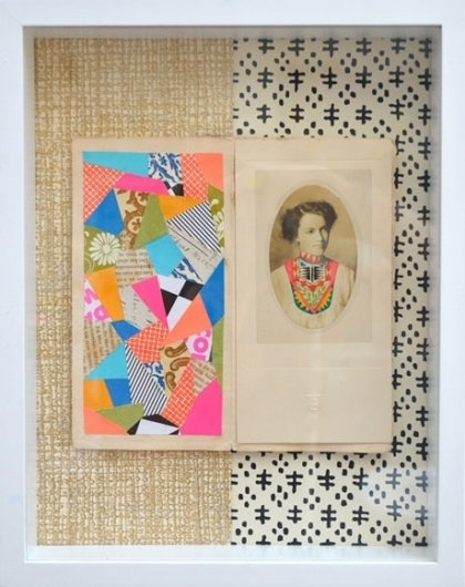 Lisa Congdon : Mixed Media #woman #girl #color #geometric #illustration #portrait #collage