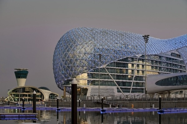 The Yas Hotel / Asymptote #double #curvature