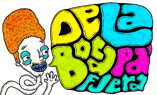 """""""De la boca pa'fuera"""" by Molly Yllom #illustration #character #design #type #typography #lettering"""