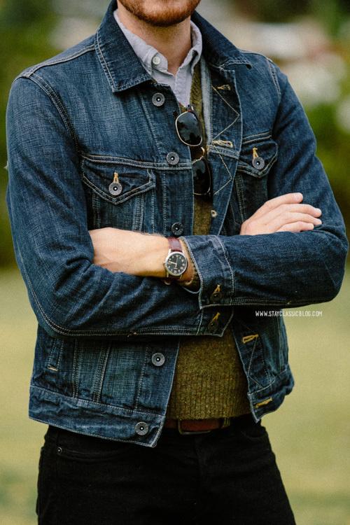 November 16, 2013.Jacket American Eagle$89Shirt: Rhodes Collar Oxford BonobosSweater: Lambswool Uniqlo$20 (similar)Jeans: #stayclassic #menswear