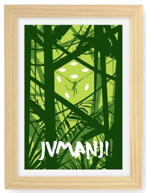 Remarkable Minimalistic Movie Posters | Abduzeedo | Graphic Design Inspiration and Photoshop Tutorials #movie #minimal #poster #jumanji #green