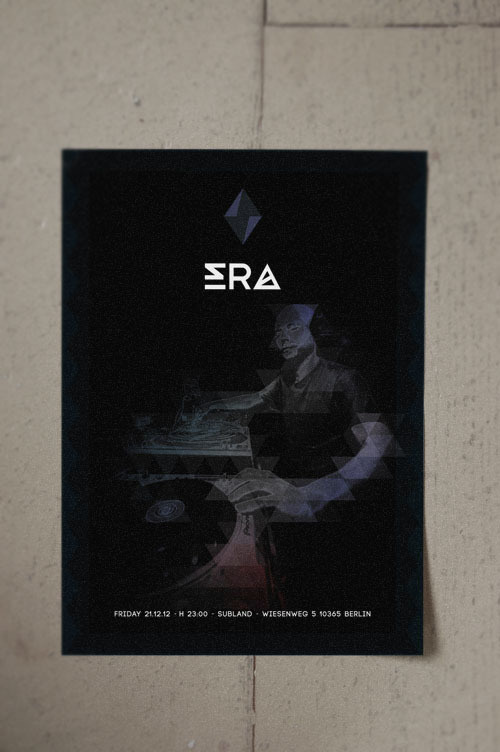 ERA #design #graphic #electronic #flyers #poster #music #logo #dark #party