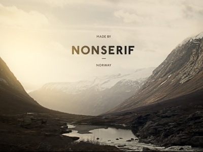 Dribbble - Nonserif - Word mark by Henning Gjerde #vintage #typography