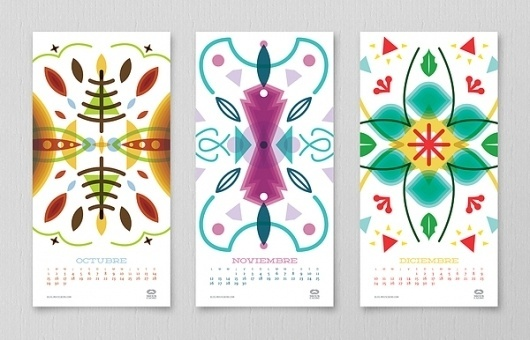 Mouscacho 2012 Calendar on the Behance Network #calendar #november #2012 #december #october
