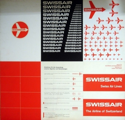 WANKEN - The Blog of Shelby White » Behind the SwissAir Logo #1950s #swissair #logo #swiss airlines identity