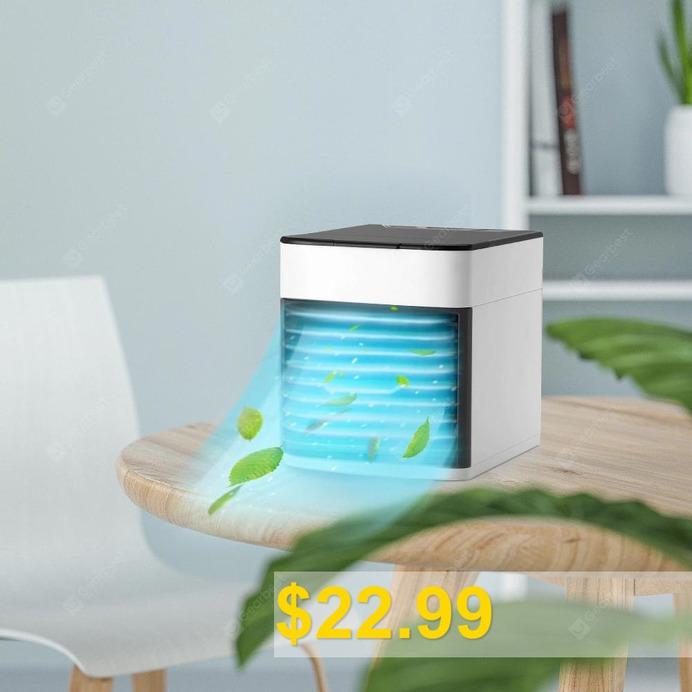 Bilikay #Mini #Air #Humidifier #Purifier #Cooling #Fan #- #WHITE