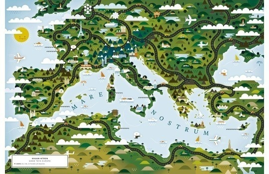 A Map of the World — according to Illustrators and Storytellers #design #graphic #book #illustration #art