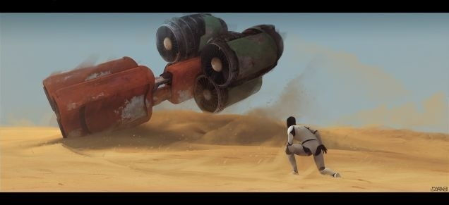 There's Already Amazing Star Wars: Episode VII Fan Art #george #lucas #fi #wars #sci #space #force #ship #sand #star #desert #awakens