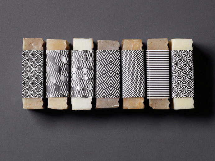 London Fields Soap Company on Packaging of the World - Creative Package Design Gallery #abstract #lines #pattern #white #design #graphic #black #soap #and