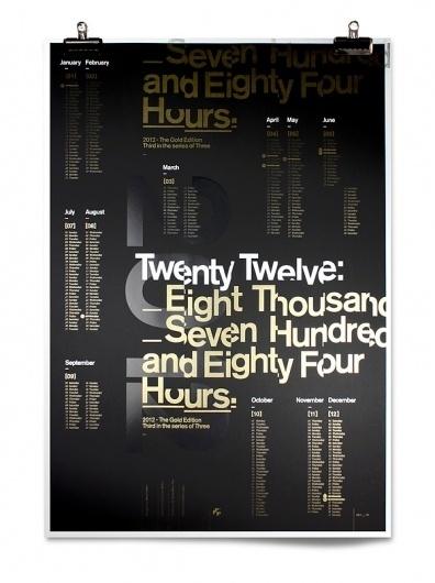 Mash Creative Gold Edition A1 2012 Calendar on the Behance Network #calender #design #black #typography