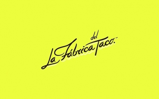 Anagrama | La Fábrica Del Taco #branding #design #graphic #color #identity