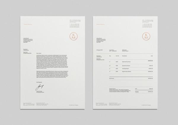 KAE — Strategic Marketing on Behance #letterhead