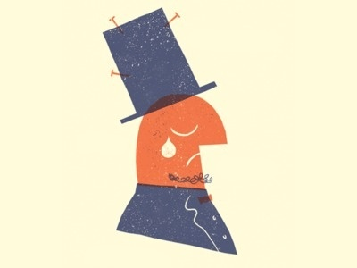 Sad Man #overprint #illustration #screenprint #texture