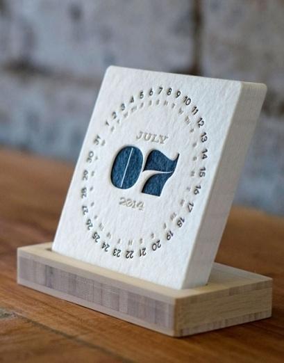 TYPE Letterpress Calendar by iSkelter on The Bazaar #print #calendar #letterpress
