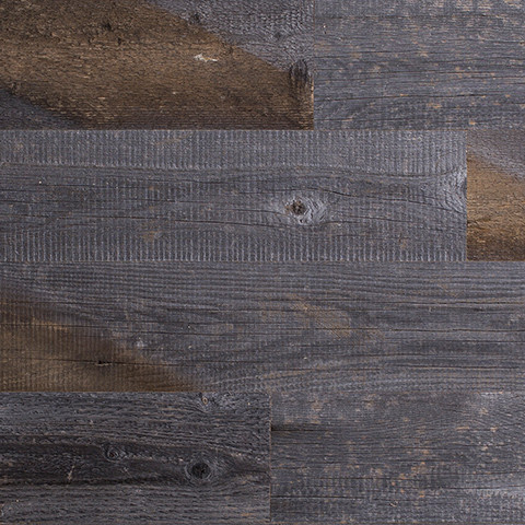 Reclaimed Weathered Wood Stick-em style wall covering #interior #wood #reclaimed