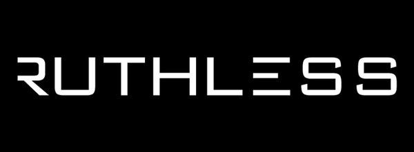 Ruthless MC logo #logotype #white #black #simple #monochrome #on #minimal #logo #typography