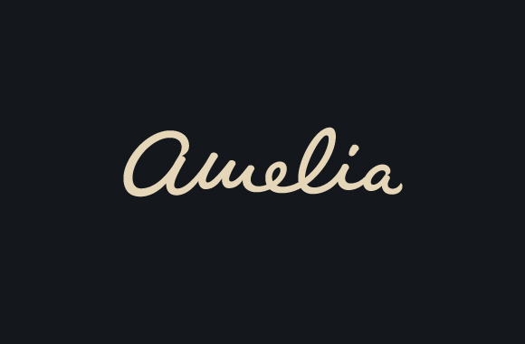 Amelia Logo, by Henric Sjösten #inspiration #logotype #creative #design #graphic #logo #dark #typography