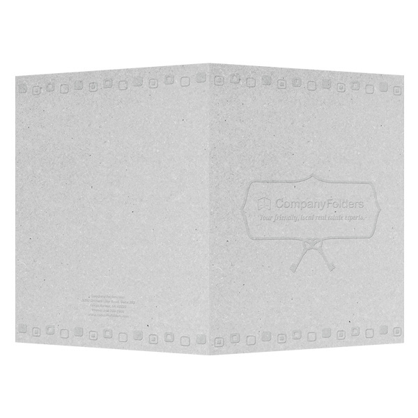 Retro Embossed Real Estate Folder Template (Front and Back View) #embossed #retro #real #template #estate