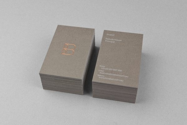 Boabel | MAUD #stamp #business #card #print #foil
