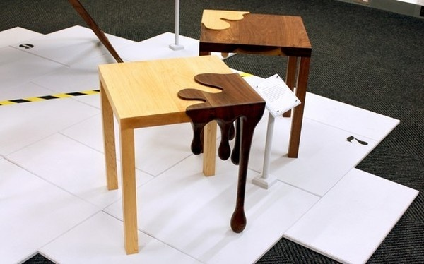 Mathew Robinson and Fusion tables #tables #fusion #chocolate #furniture #art