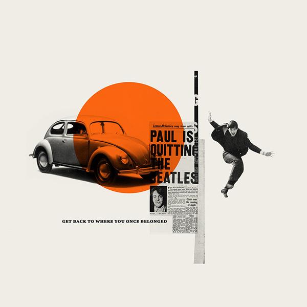 The Beatles. Revolution 9 on Behance #beatles #collage