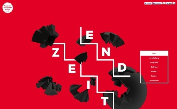 Endzeit Web #red #bold #steps #web #typography