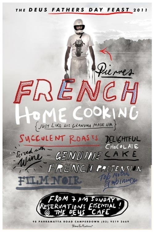 French Home Cooking #type #poster