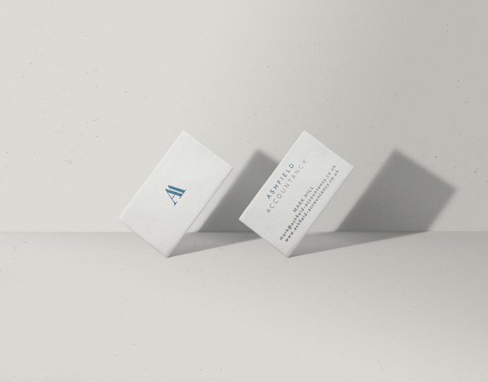 Ashfield Accountancy branding and stationery, by Redspa http://redspa.uk
