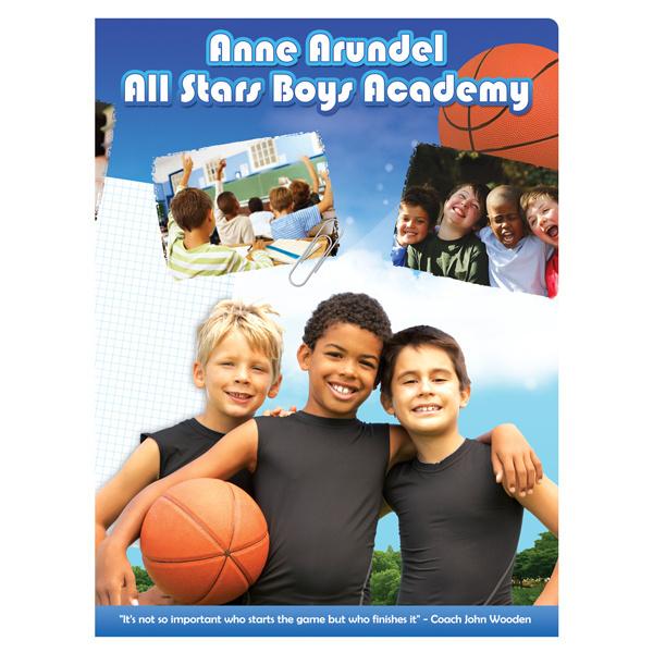All Stars Boys Academy Presentation Folder #inspiration #athletic #designs #presentation #stars #sports #boys #blue #folder #basketball