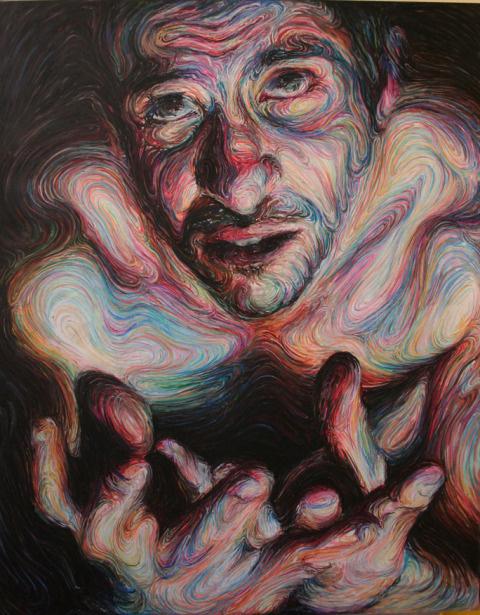 Nikos Gyftakis   PICDIT #design #portrait #painting #art #face