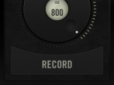 Dribbble - Camera Remote App - Record Button by Jeremey Fleischer