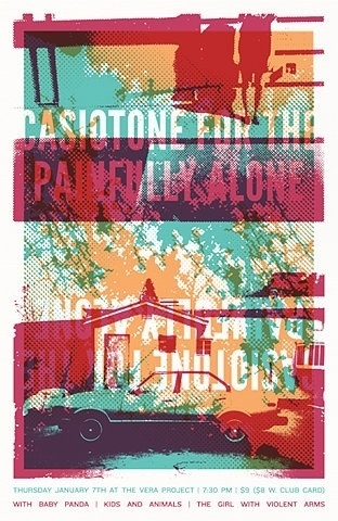 FFFFOUND! | GigPosters.com - Casiotone For The Painfully Alone - Baby Panda - Kids And Animals #screenprint
