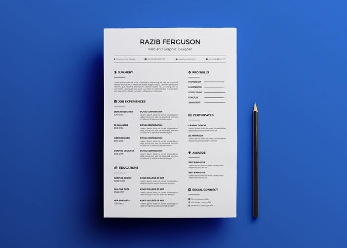 Simple Resume Template for Web Designer