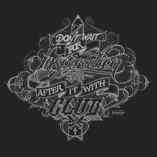 Dont wait by ~suqer on deviantART #type #chalk #typography