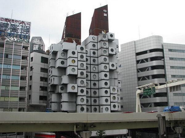 Nakagin Capsule Tower (Tokyo, Japan) #building #house #interesting