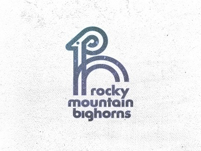 Dribbble - Rocky Mountain Bighorns by Mike Bruner #design #horns #rocky #logo #mountains