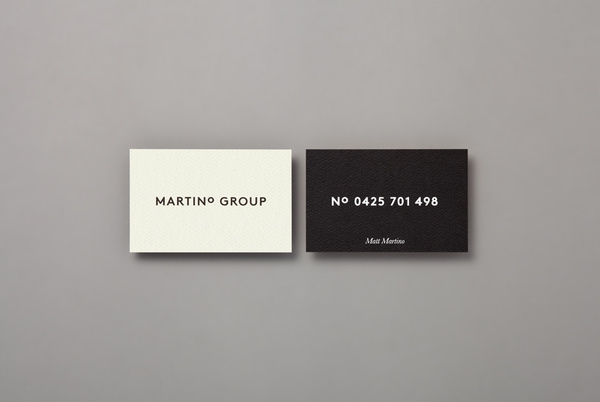 Martino Group business card