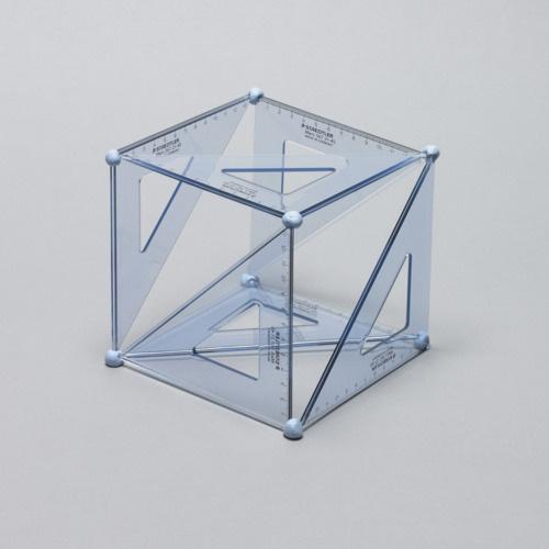 Designersgotoheaven.com Set Square Cubed by Daniel Eatock. #sculpture #geometry #putty #stools #triangles