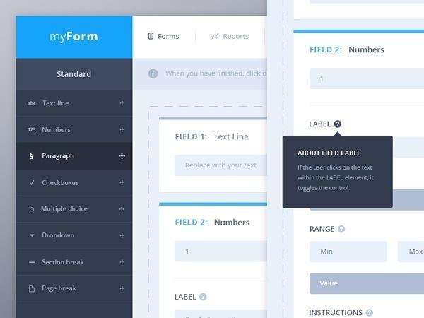 Form fields UI #flat #modern #soft #ui